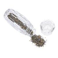 Хрустальная крошка для дизайна ногтей, серебро
