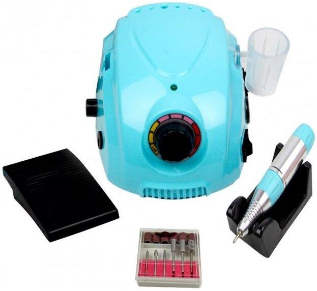 Аппарат для маникюра Nail Drill DM-996, 35000 об/мин, 65 Вт, синий