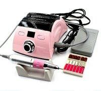 Аппарат для маникюра Nail Drill Set ZS-710, 35000 об/мин, 65 Вт, розовый