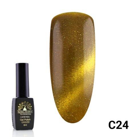 Гель-лак кошачий глаз Cat Eyes Global Fashion C24, 8 мл