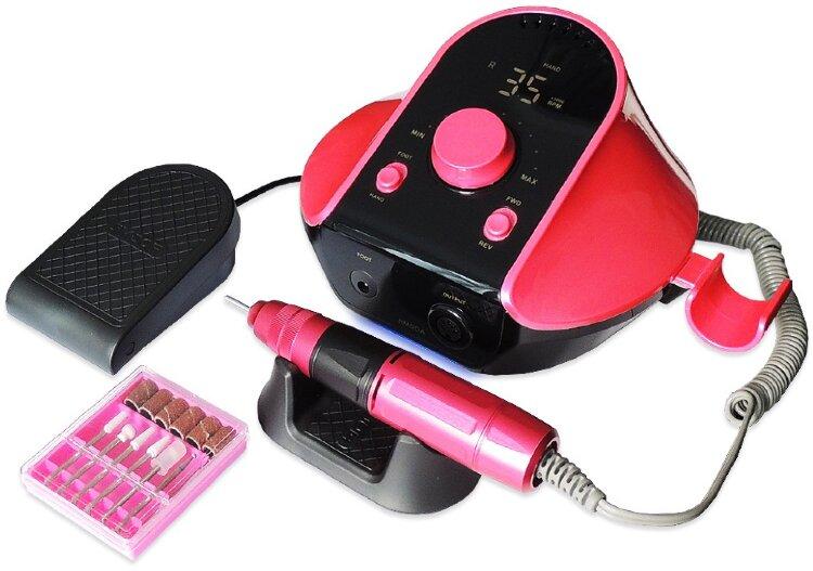 Аппарат для маникюра и педикюра JMD 306, 45000 об/мин, 80 Вт, розовый